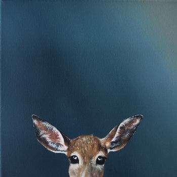 Clara Bryon, artiste hyper-réalisme, a fait une biche pour le collectif les biches